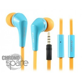 Ecouteurs Intra-auriculaires AWEI Q7i Bleu/Orange