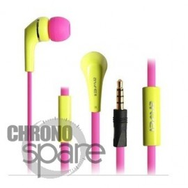 Ecouteurs Intra-auriculaires AWEI Q7i Jaune/Rose