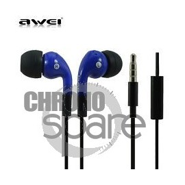 Ecouteurs Intra-auriculaires AWEI Q9i Bleu/Noir