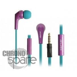 Ecouteurs Intra-auriculaires AWEI Q7i Violet/Bleu