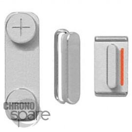 Lot de boutons Argent iPhone 5S