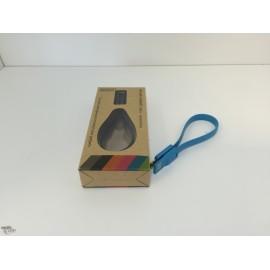 Câble Micro USB Compact aimanté Bleu