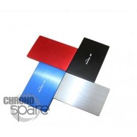 Boitier externe disque dur 2.5 pouces (9,5mm) SATA USB 2.0 Metal Rouge