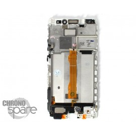 Ecran LCD & Vitre Tactile blanche + Chassis Huawei Mate S