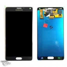 Vitre tactile et écran LCD Samsung Galaxy Note 4 N910F Gris/Noir compatible