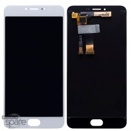 Ecran LCD + Vitre tactile Blanc Meizu M3 Note