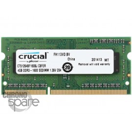 Barrette Mémoire Kingston 4Go DDR3 So-Dimm PC12800 1600Mhz 1.35V - KVR16LS11/4