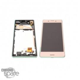 Ecran LCD & Vitre Tactile Rose Sony Xperia X dual F5121 F5122 (officiel) 1302-4799