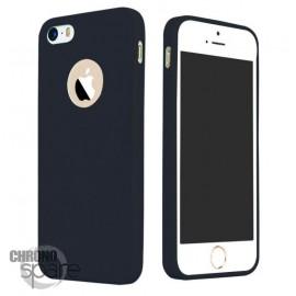 Coque ultra fine effet métallisé Noire iPhone 5