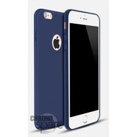 Coque ultra fine effet métallisé Bleu iPhone 5