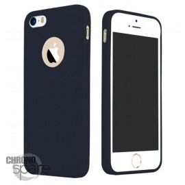 Coque ultra fine effet métallisé Noire iPhone 5s