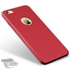 Coque ultra fine effet métallisé Rouge iPhone 7