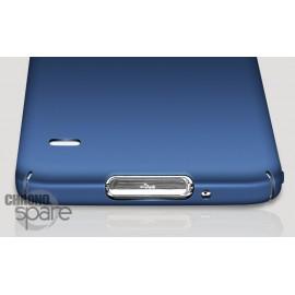 Coque ultra fine effet métallisé Bleu Samsung S5 G900