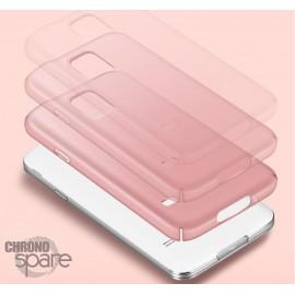 Coque ultra fine effet métallisé Rose Samsung S5 G900