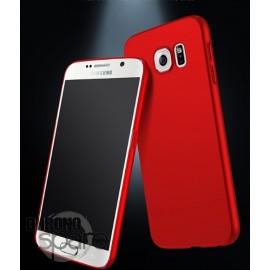 Coque ultra fine effet métallisé Rouge Samsung S7 G930