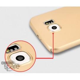 Coque ultra fine effet métallisé Or Samsung S7 G930