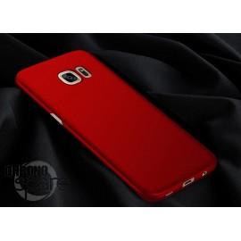 Coque ultra fine effet métallisé Rouge Samsung S6 edge G925