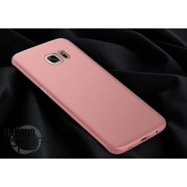 Coque ultra fine effet métallisé Rose Samsung S6 edge G925