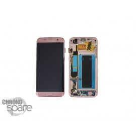 Ecran LCD et Vitre Tactile Or Rose Samsung S7 Edge G935F (officiel) GH97-18533E (DRIT)