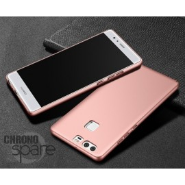 Coque ultra fine effet métallisé Rose Huawei P9