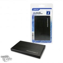 Boitier externe disque dur 2.5 pouces SATA USB 3.0 Noir