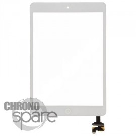 Vitre tactile blanche + bouton home + scotch 3M iPad Mini 1/2 (Premium)