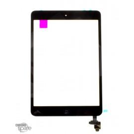Vitre tactile noire + bouton home + scotch 3M iPad Mini 1/2 (Premium)