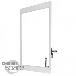 Vitre tactile blanche + bouton home + scotch 3M iPad Air (Premium)