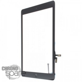 Vitre tactile noire + bouton home + scotch 3M iPad Air (Premium)