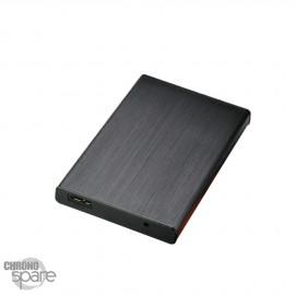 Boitier externe disque dur 2.5 pouces (9,5mm) SATA USB 3.0 Metal Noir