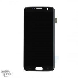 Ecran LCD + Vitre tactile Noire Samsung S7 Edge G935F (Compatible) sans châssis