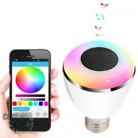 Ampoule bluetooth musicale - Multicolore + application smartphone
