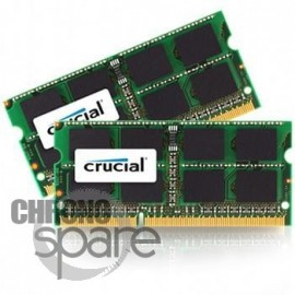 Pack barette mémoire Crucial 2 x 4Go So-dimm PC3-8500 (compatible Apple MacBook Pro et iMac)