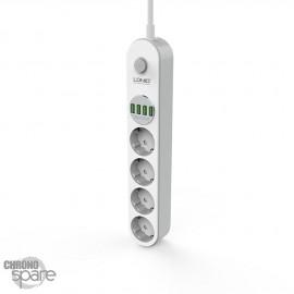 Multiprise secteur LDNIO SE4432 4 USB 3.4A + 4 secteurs (Max 2500W) 2m