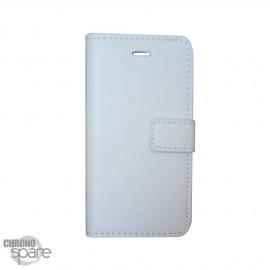 Etui simili-cuir Blanc PU à rabat latéral iPhone 5C