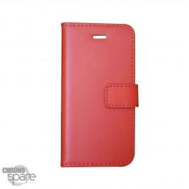 Etui simili-cuir Orange PU à rabat latéral iPhone 5C