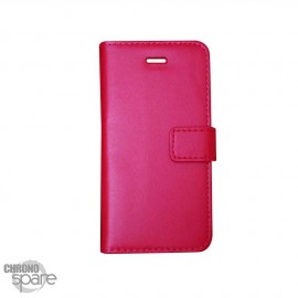 Etui simili-cuir Rouge PU à rabat latéral iPhone 5C