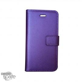 Etui simili-cuir Violet PU à rabat latéral iPhone 6 Plus et 6S +