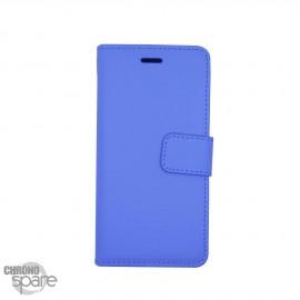 Etui simili-cuir Bleu PU à rabat latéral iPhone 6 Plus et 6S +