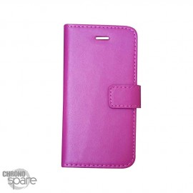 Etui simili-cuir Fuchsia PU à rabat latéral iPhone 6 Plus et 6S +