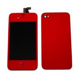 Ecran LCD + vitres rouge iphone 4