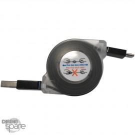 Câble enrouleur 1 mètre type C- noir