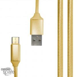 Câble tressé 1m Type C - Or