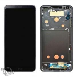 Bloc écran LCD et Vitre Tactile noir LG G6 H870 (Officiel)