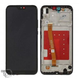 Ecran LCD + Vitre Tactile Huawei P20 Lite/Nova 3E Noir avec chassis
