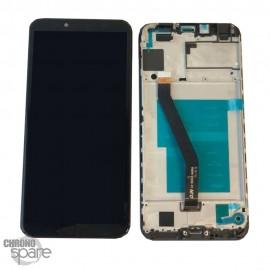 Ecran LCD + vitre tactile Huawei Y6 2018 - Noir avec chassis