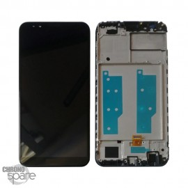 Ecran LCD + vitre tactile Huawei Y7 2018 - Noir avec chassis