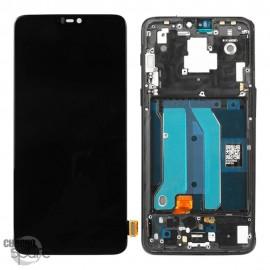 Ecran LCD + Vitre Tactile Noire OnePlus 6