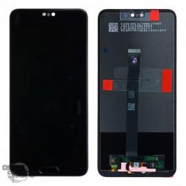 Ecran LCD + Vitre Tactile Huawei P20 Noir (officiel)