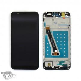 Ecran LCD + vitre tactile Noir Huawei P Smart avec chassis